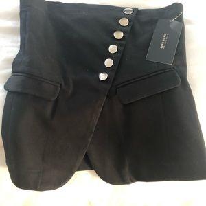 Zara black denim wrap bustier